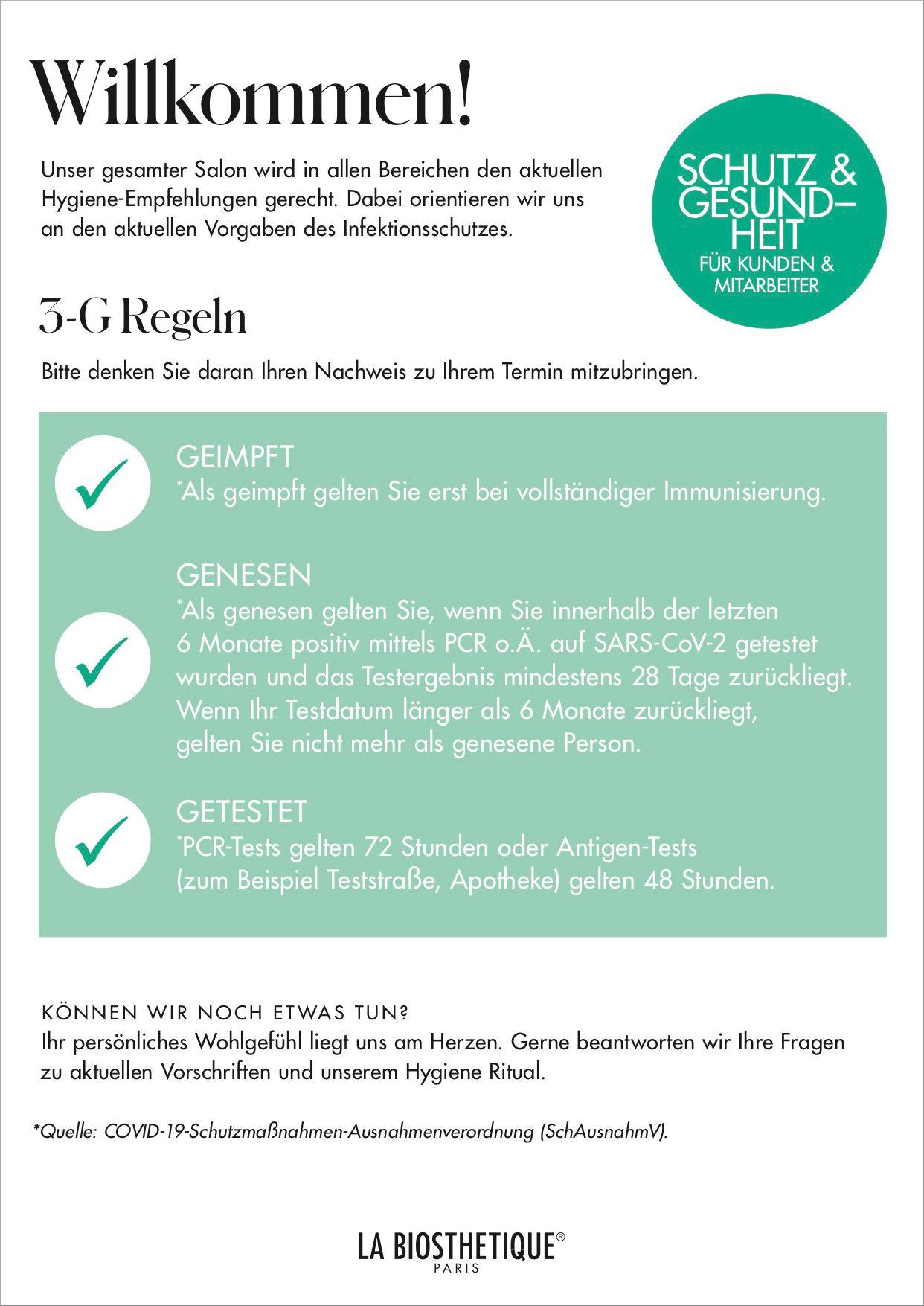 Friseur Karben 3G Regeln